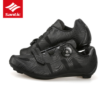 Santic road cycling shoes men racing shoes road bike ultralight self-locking bicycle sneakers breathable professional