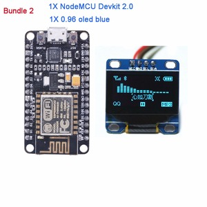 Image 3 - NodeMCU Devkit 2.0 IIC SPI המבוסס על ESP8266 ESP 12 CP2102 + 0.96 Serial IIC I2C מודול תצוגת OLED RCmall DIYmall