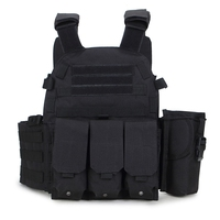 Men's Military Tactical Vest Army Hunting Molle Airsoft Vest Outdoor Body Armor Combat Painball Black Vest