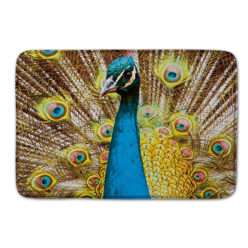Peacock bathroom rug - Peacock Bird Rug Bath Doormats Indoor Outdoor Floor Door Mats China
