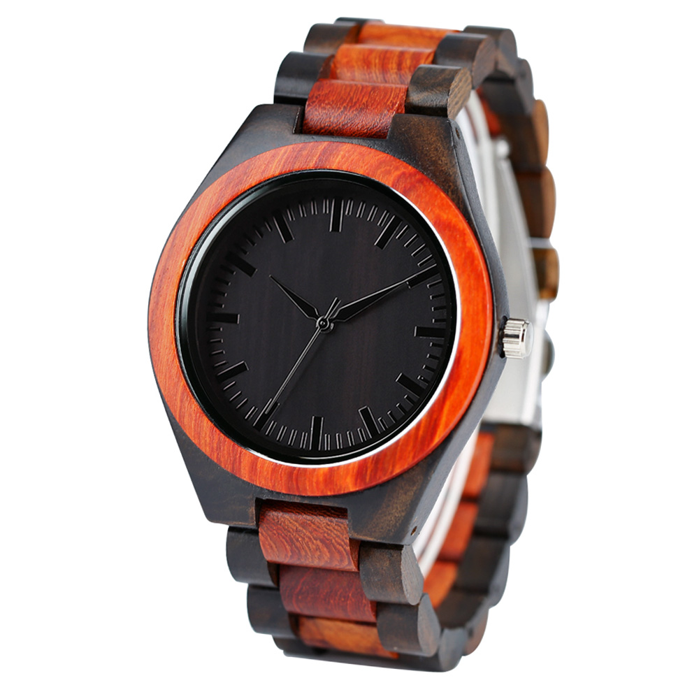 Full Wooden Watches Man Creative wristwatch  (2)
