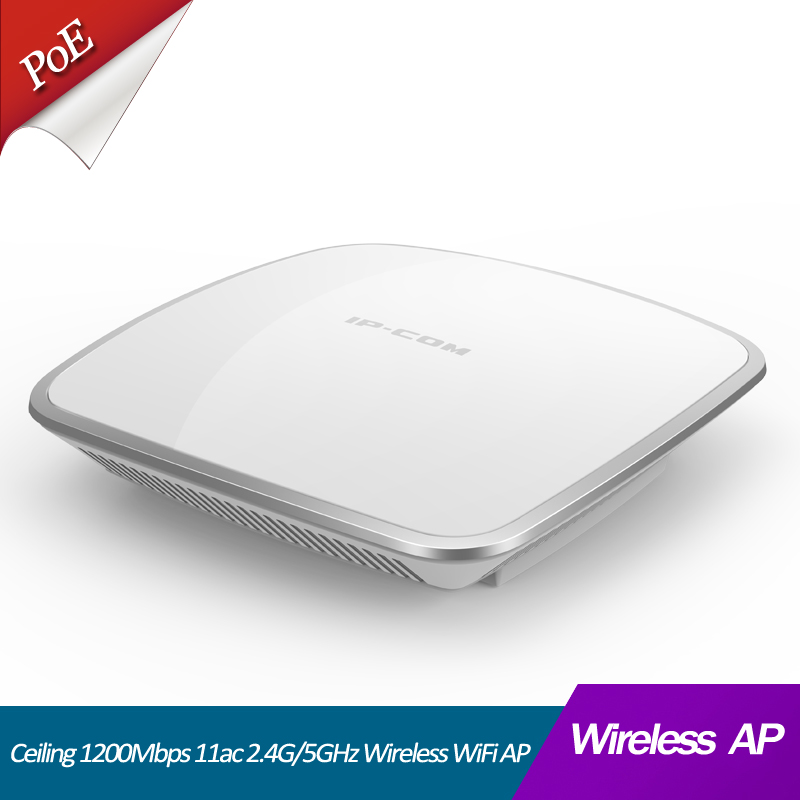 1200Mhz 11ac Dual-Band Wireless Access Point 2.4G&5G Indoor Ceiling AP With 60 Units Support 802.3af/at PoE And DC Power Supply