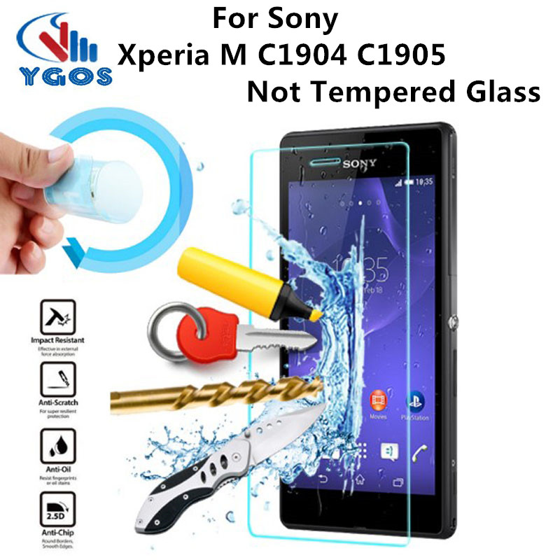 Premium Nano Explosion-Proof Anti Shock Soft Screen Protector Protective Film for Sony Xperia M C1904 C1905 Not Tempered Glass
