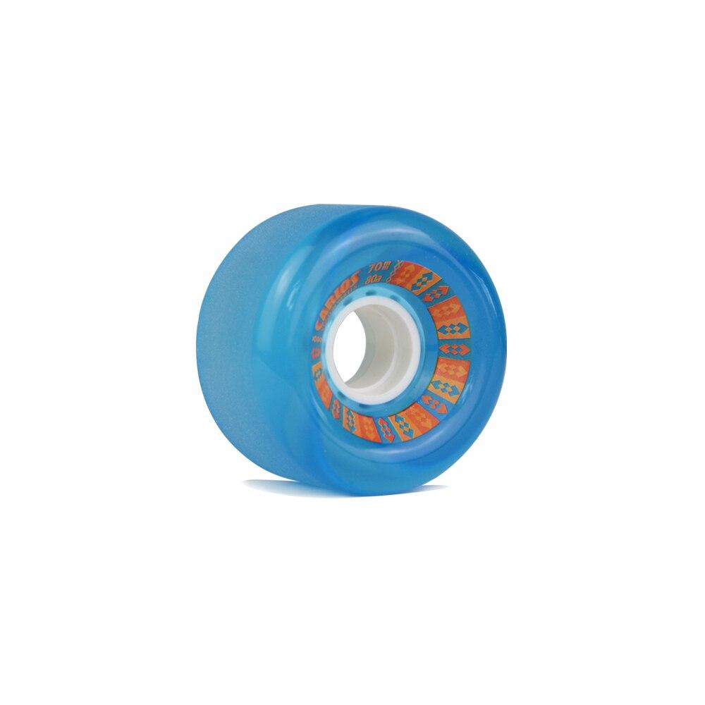 Prix pour KOSTON pro longboard coulissante roues avec 80% rebond, 70mm longue planche à roulettes roues avec poli surface à 80A duromètre