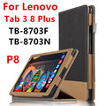 Case For Lenovo P8 Tab 3 8 Plus Protective Smart cover Faux Leather Tablet For TB-8703F TB-8703N 8 inch PU Protector Sleeve Case