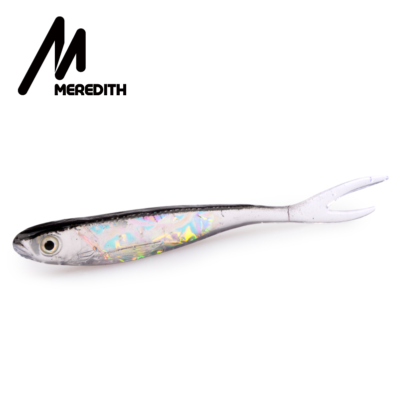 MEREDITH LURE Retail Hot Model 5pcs 100MM 4.4g Saltwater  Fishing Soft Lures Free Shipping
