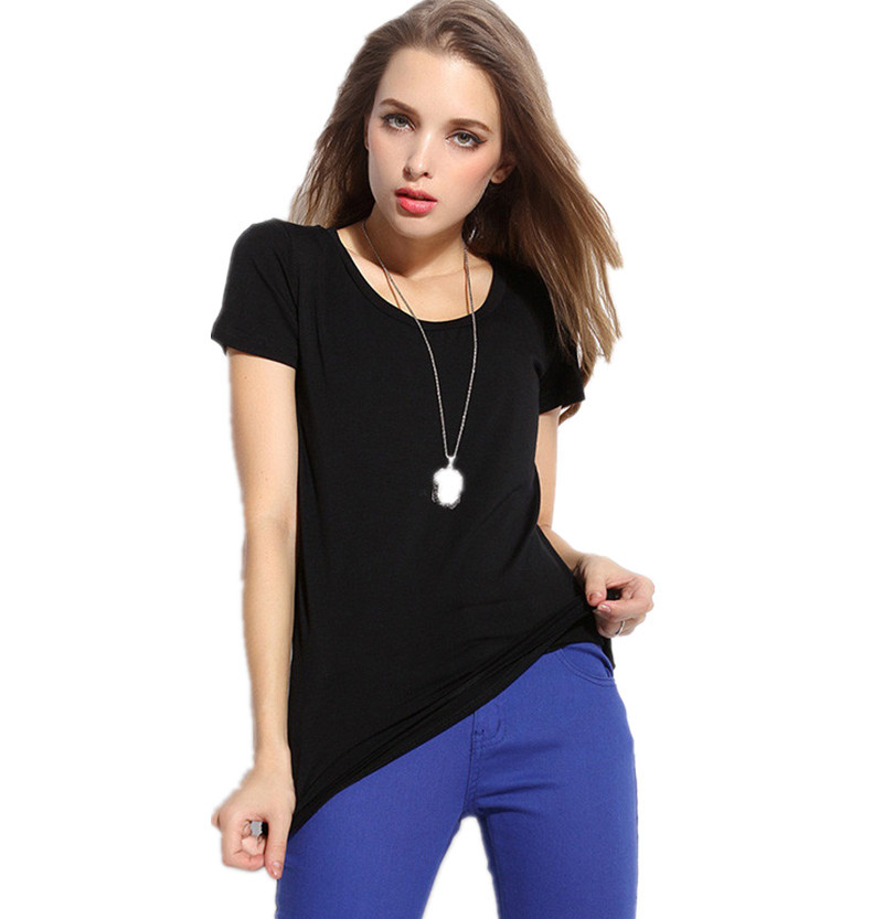 Summer Casual Fashion O-neck Basic Women T Shirt Short Sleeve Tops Plus Size Women O-neck Cotton Slim Clothing for Gift