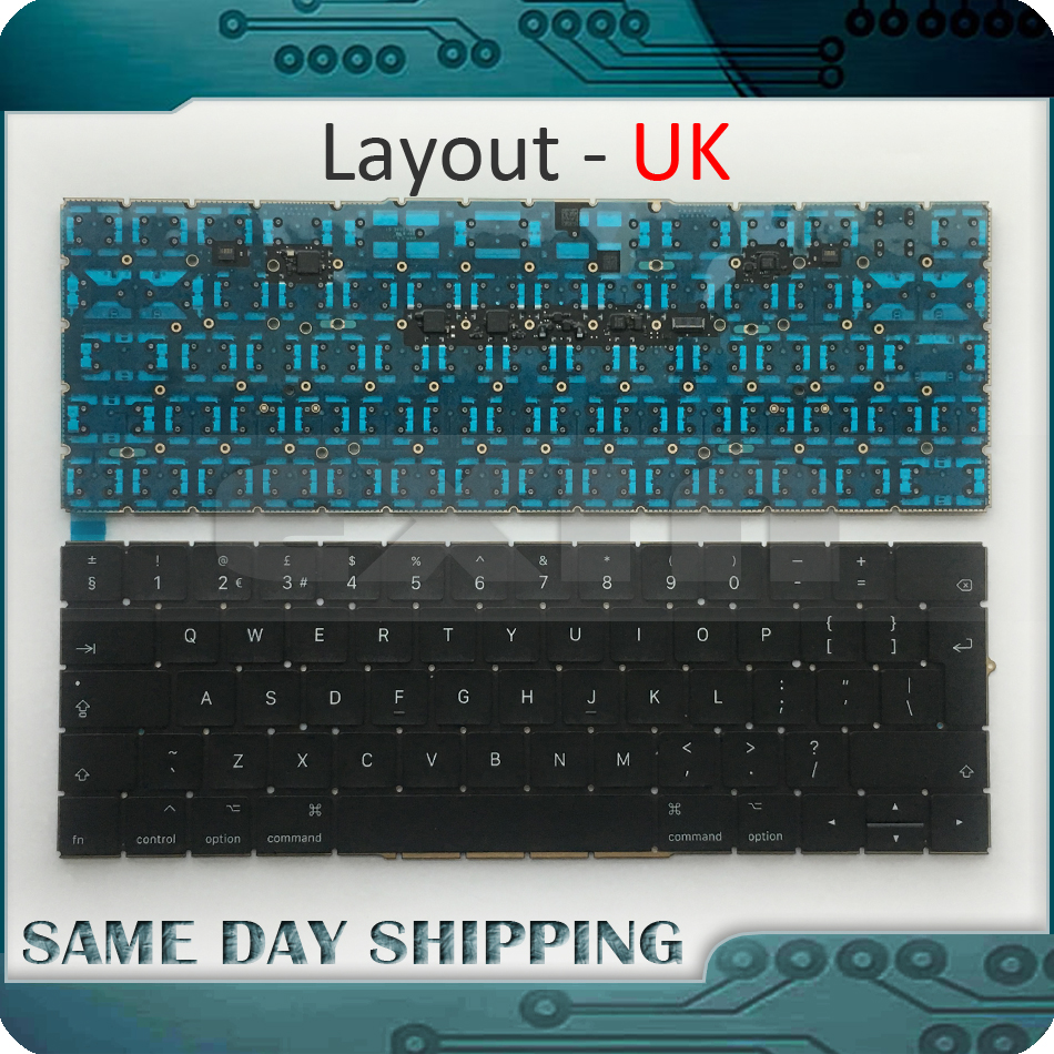 New Laptop A1706 Keyboard UK English EU EURO for MacBook Pro 13.3 Retina A1706 UK Standard Keyboard Late 2016 Mid 2017 Year the new english for sony vpcsb18ga vpcsb18gg vpcsb18gh keyboard black silver laptop keyboard
