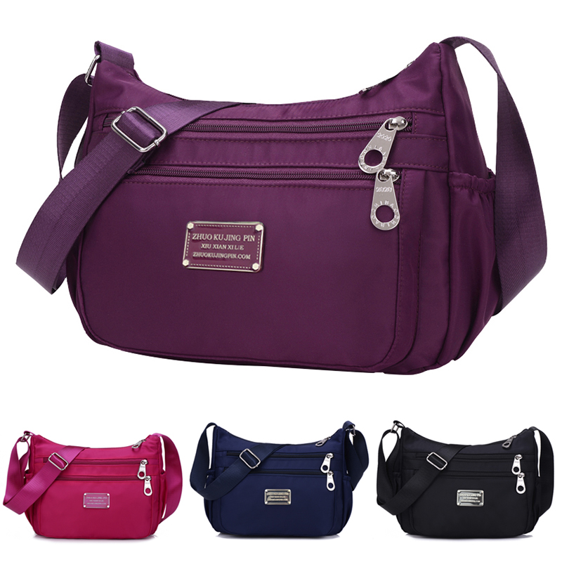2018 Women Waterproof Nylon Light Casual Bags Female Shoulder Crossbody Messanger Bags Colorful Travel Bag