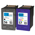 2x Compatible HP 56 57 Ink Cartridge for PSC 2179 2210 2400 2405 2410 2410v 2410xi 2420 2500 2510 2115 2170 2171 2175 Printer