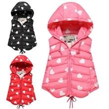 2016 New Winter Baby Kids Vest Children Boys Girls Down Cotton Vest Waistcoat Kids Sleeveless Jacket Vest Warm Hooded Coat AK032