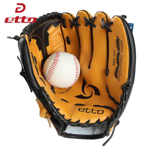 Etto New Top Quality Men Professional Baseball Glove Right Hand Male Beisbol Training Glove Kids For Match Softball HOB002Y 2