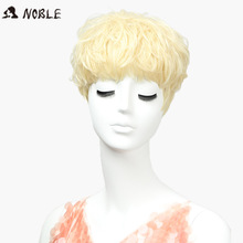 hot deal buy noble hair synthetic wigs for women 10 inch 613 gold wigs in synthetic cosplay wigs heat resistant synthetic hair free shipping