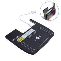 Car Auto Console Storage Box 9V QC 3.0 10W Qi Wireless Charger Charging