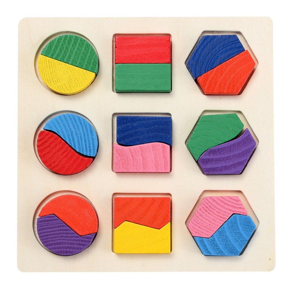 Apprentissage éducation jouets en bois Puzzle pour enfants 3D Cube magique jouets éducatifs pour enfants Montessori Puzzle cadeaux de nouvel an