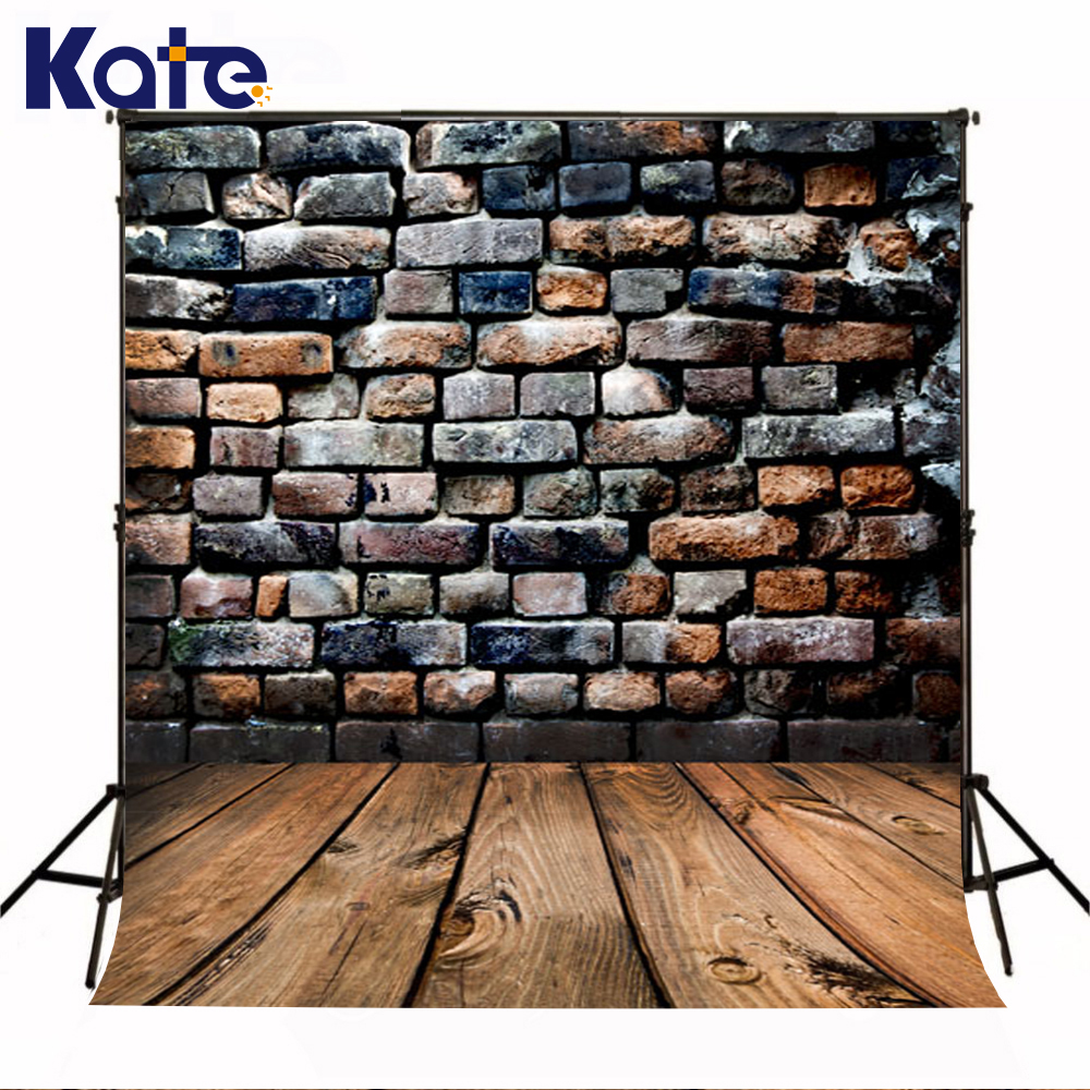 KATE 200x300cm Photography Backdrops Vintage Brick Wall Photography Backdrop Wood Floor Background for Children US Delivery kate wood photography photography white brick wall backdrops gray wood floor baby backgrounds for photo shoot print cm 5674