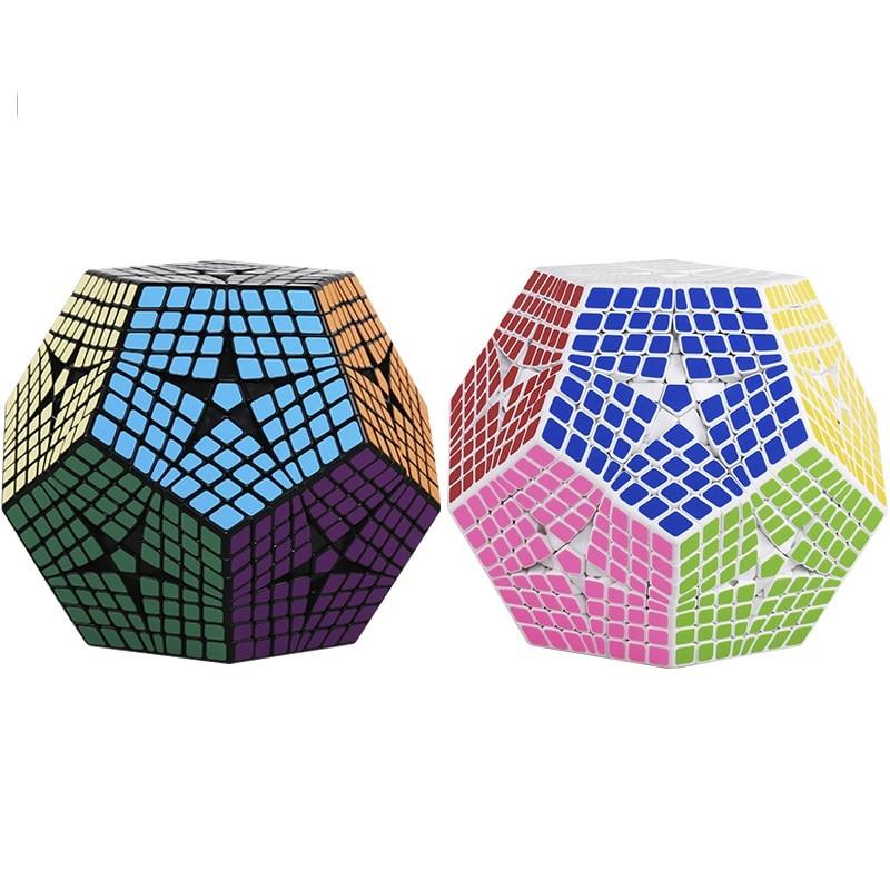 2018 Shengshou Tegaminx Cubo Di Puzzle 12 Facce Professionale 8x8x8 PVC & Matte Adesivi Cubo Di Puzzle Velocità giocattoli Educativi classici