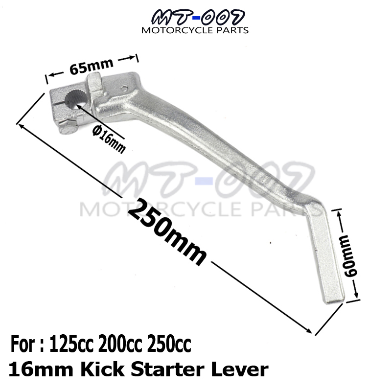 16mm Kick Starter Lever Start For <font><b>Lifan</b></font> YX <font><b>Lifan</b></font> YX Pit Dirt Bike CB/CG 200cc <font><b>250cc</b></font> Thumpstar Motocross <font><b>Parts</b></font> image