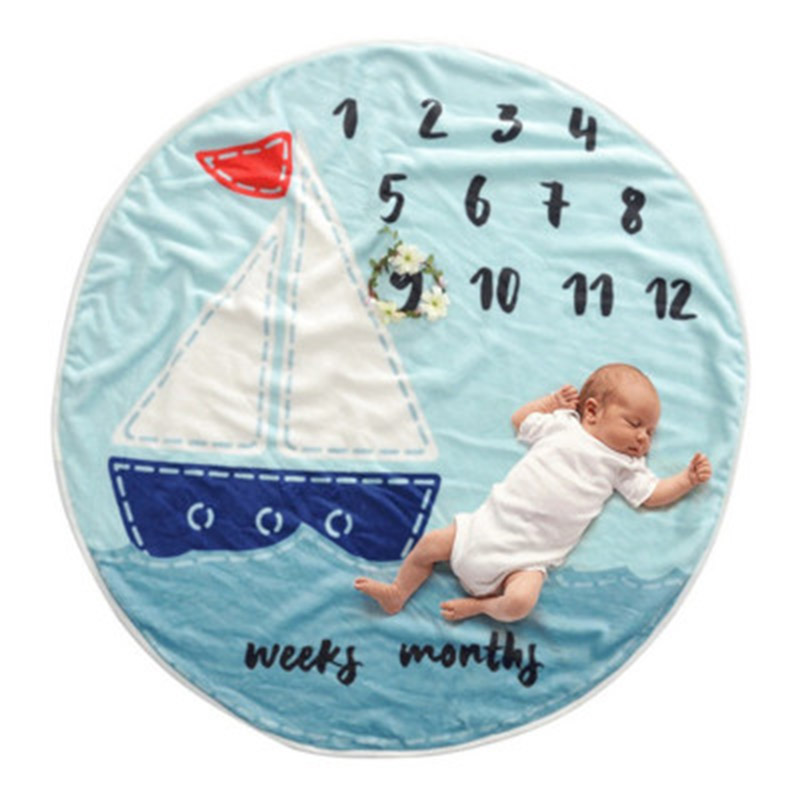 Baby Monthly Background Blanket Rug Unisex Photography Photo Props M09