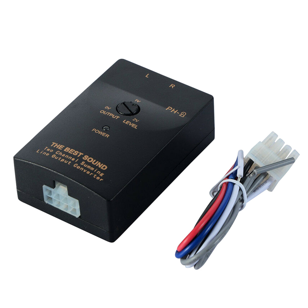 Amplifier Universal High To Low VF Level Replacement Stable <font><b>Car</b></font> RCA Stereo Output <font><b>Audio</b></font> Converters <font><b>Subwoofer</b></font> Speaker Signal PH-2 image