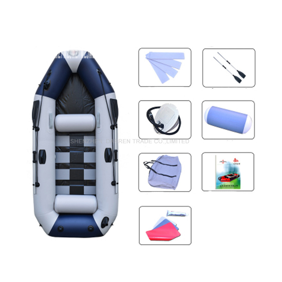 3 Person Pvc Inflatables Boat Professional Fishing Rowing Boat Inflatable Laminated Wear-resistant Boat Rubber With Oars Pumps Elegant And Sturdy Package