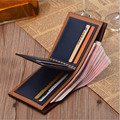 Wallet men PU leather wallets purse short male clutch credit card Holder Short wallets D1055-6