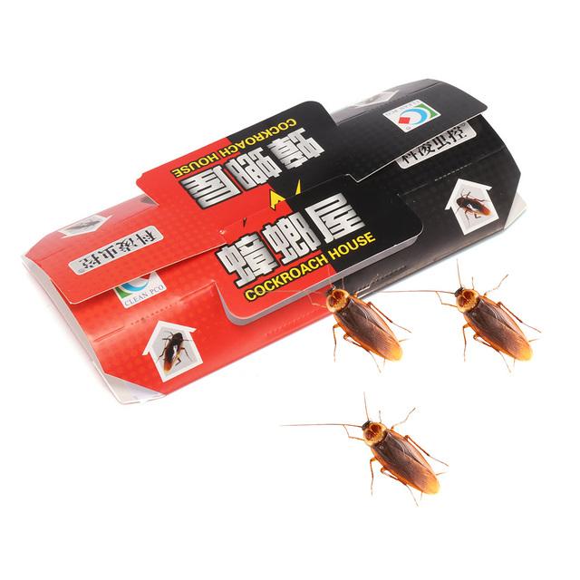 10PCS Cockroach Trap Pitfall House Killer Bug Insect Net Bait Catch Glue Home Pest Control Roach Black Beetle Blackbeetle Room