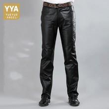 חדש אופנה אמיתי זכר עור מכנסיים 2020 סתיו גבוהה רחוב ישר רופף קלאסי מכנסיים Biker רך Pantalon איש בתוספת גודל