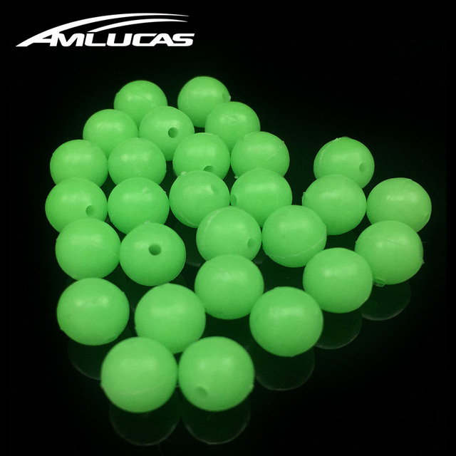 Special Offers Amlucas 50pcs Round Luminous Fishing Beads Glow InThe Dark Sea Fishing Lure Floating Float Tackle Accessories WW138