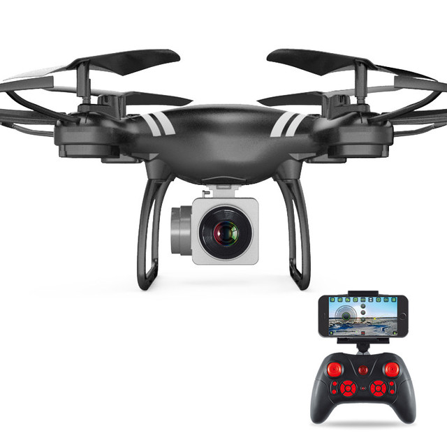 Mini RC Drone With Camera HD 4-Axis Aircraft Wide-angle 2MP 5MP WiFi Camera Real Time Video RC Quadcopter Drone KY101 For 1