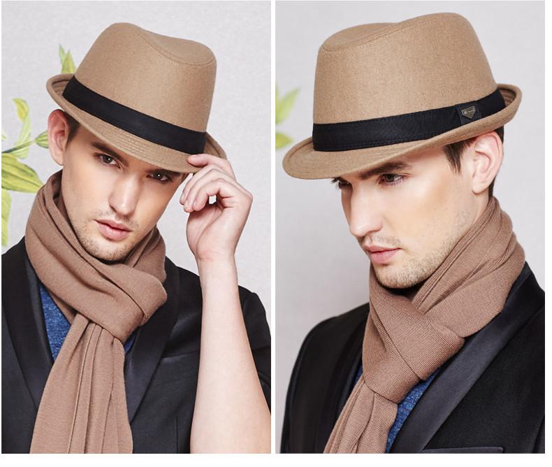 vintage fedora hat black fedora hats for men wool felt hat mens hats fedoras mens fedora hats winter vintage hat jazz hat (15)