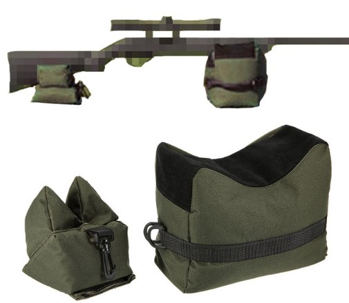Front&Rear Bag Support Rifle Sandbag Set Portable Sniper without Sand Hunting Target Stand Hunting Accessories