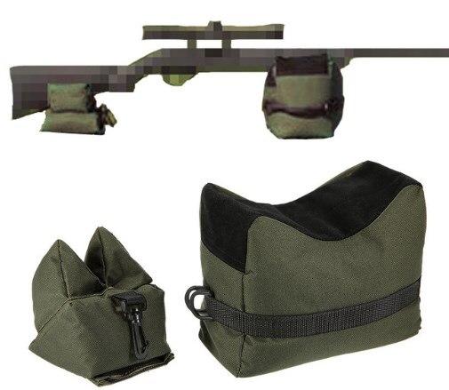 Vorne und Hinten Unterstützung Gewehr Sandsack Set Portable Sniper ohne Sand Jagd Ziel Stehen Jagd Zubehör