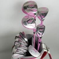 Женские Гольф клубы Maruman RZ полные клубы установить Drive + Фарватер древесины + Утюги Графит гольф вала и крышка без шар пакеты