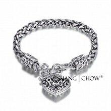 2017 Nouvelle Mode gribouiller Noir Vintage Coeur Sharp 925 Sterling Bracelet En Argent pour femmes longueur 180mm Amant Cadeau B0002
