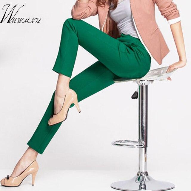 2018 phụ nữ MỚI của casual CV văn phòng Bút Chì Quần Cô Gái của dễ thương 12 màu Slim Stretch Quần thời trang Kẹo Jeans bút chì Quần