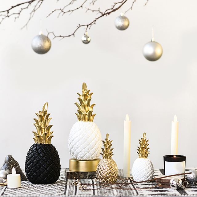 Nordic Modern Pineapple Fruit Living Room Wine Cabinet Window Desktop Home Decor Table Decoration Crafts Fashion 4
