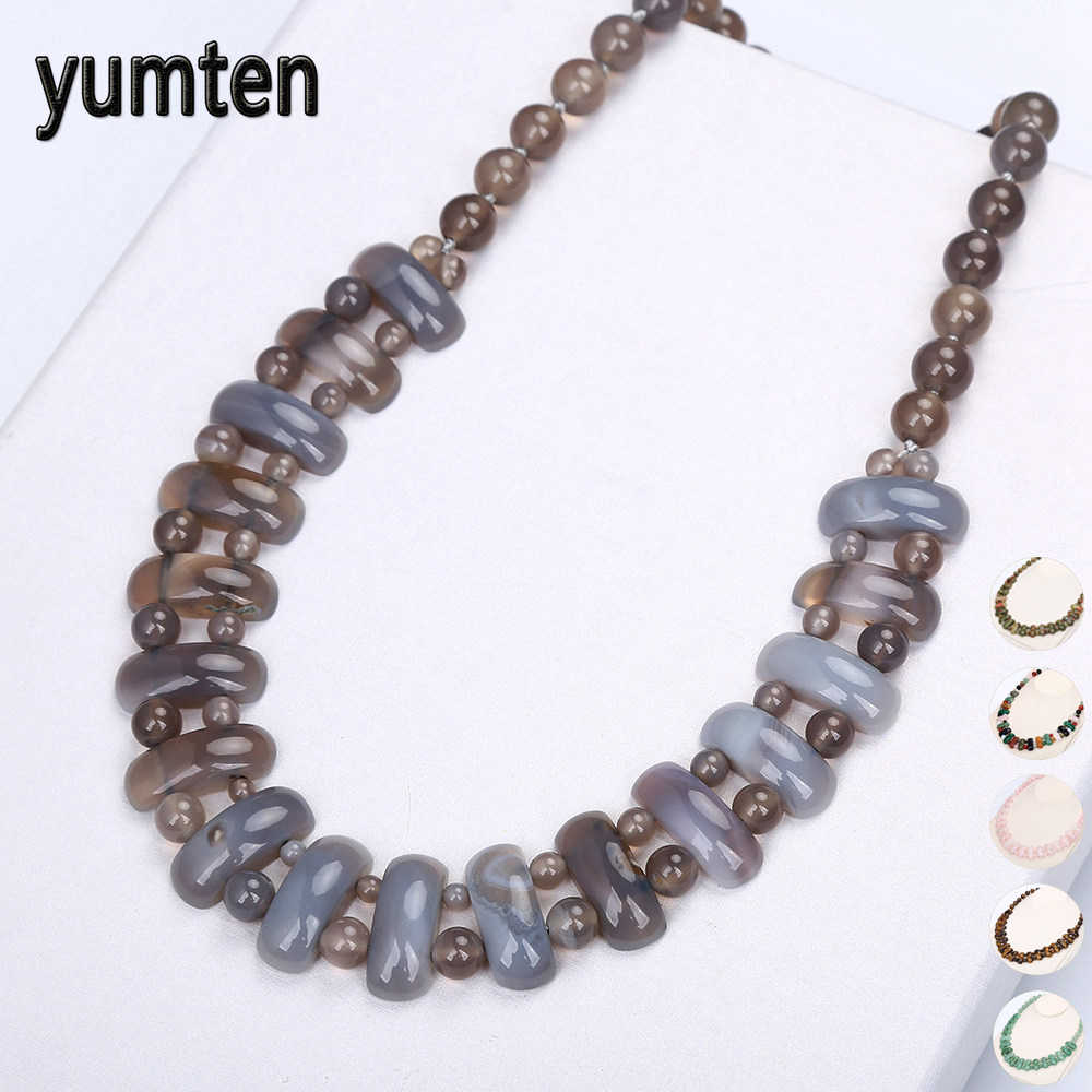 Yumten Women Big Necklace Vintage Man Power Gem Natural Stone Ethnic Jewelry Statement  Female Accessories Fashion Pendant Reiki