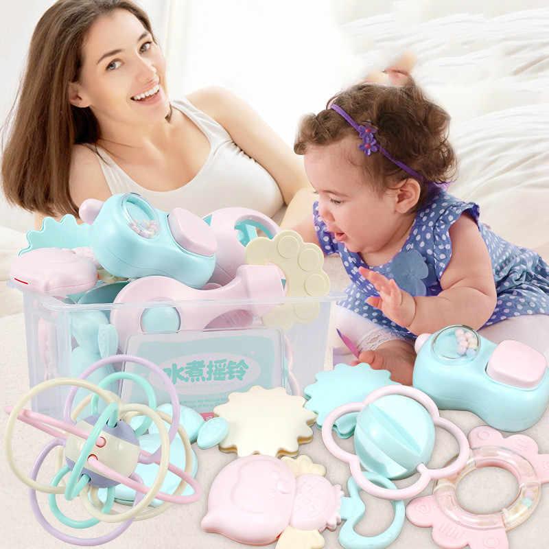Фото 11 шт. детская погремушка игрушка может быть вареная головоломка зубной гель