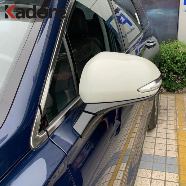 For <font><b>Hyundai</b></font> Santa Fe <font><b>2019</b></font> 2020 ABS Chrome External Side Door Rearview Car Mirror Cover Trim Car Styling Exterior Accessories image