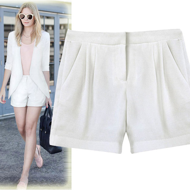 2017 novo clássico da moda Europeus e Americanos das mulheres Pure color casual shorts direto da fábrica