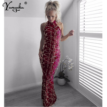 купить Sexy Red Off Shoulder Sequins dress women long bodycon summer dress maxi elegant vintage Night club Party Dreses vestidos robe дешево