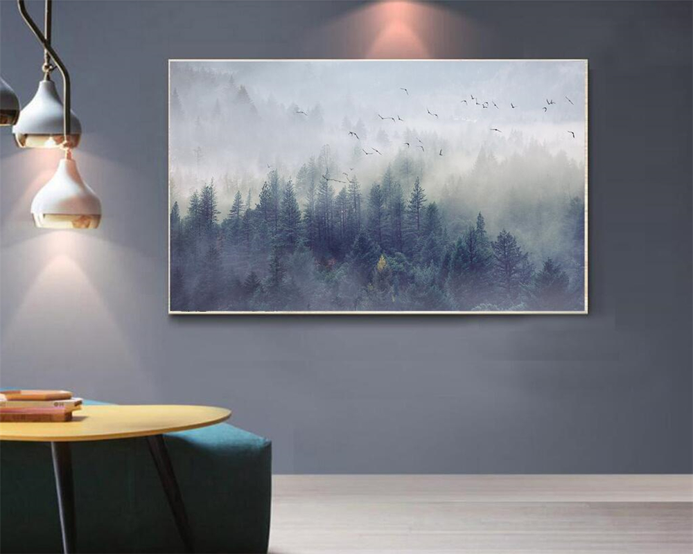 Beibehang Custom Wallpaper Nordic Fresh Forest Landscape Design Tv