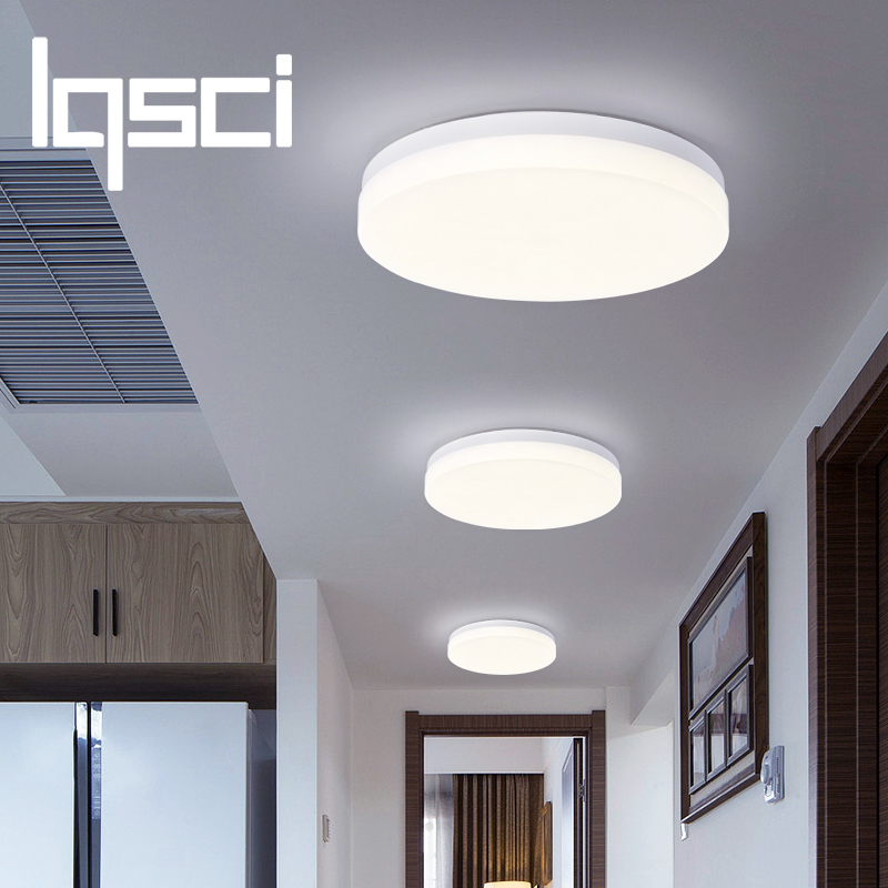LQSCI 9W 13W 18W 24W 36W 48W LED Circular Panel Light Surface Mounted Led Ceiling Light AC 85-265V Lampada Led Lamp