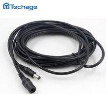 Techage CCTV DC Power Verlängerung Kabel 5 Meter 5,5mm x 2,1mm Stecker für CCTV Sicherheit Kamera 5 m/10m Netzteil Adapter