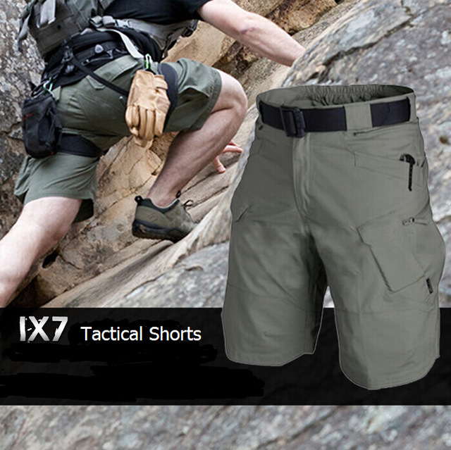 Hot Sale! IX7 Tactical Wearable Urban Archon Shorts Mens Military Black Sportswear SWAT Training Airsoft Paintball Shorts Khaki