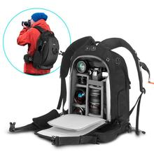 2019 Camera Backpack With Waterproof Rain Cover, Modular Inserts, Lockable Zipper, Slr/dslr/lens/laptop And Accessories, Black
