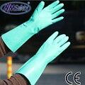 NMSAFETY 2016 green nitrile industrial arbeitshandschuhe, длинные перчатки, diamond grip on plam защитные перчатки для работы