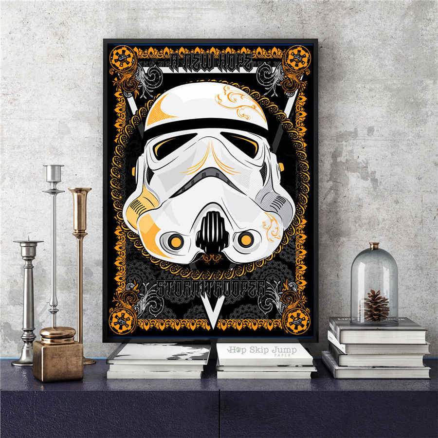 Star Wars Vintage Moderne Poster Wand Aufkleber Kunst Film Malerei wohnzimmer dekoration wand aufkleber drucken Papier 42x30 cm