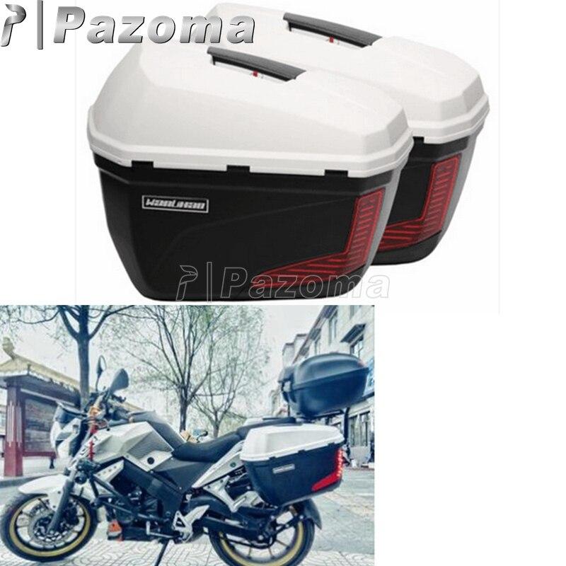 Boîtes latérales universelles de caisse latérale du moteur 20L boîtes de cargaison de bagage de boîte supérieure de queue pour BMW Triumph Honda Kawasaki Suzuki Yamaha
